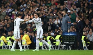 James Rodriguez is replaced by Gareth Bale