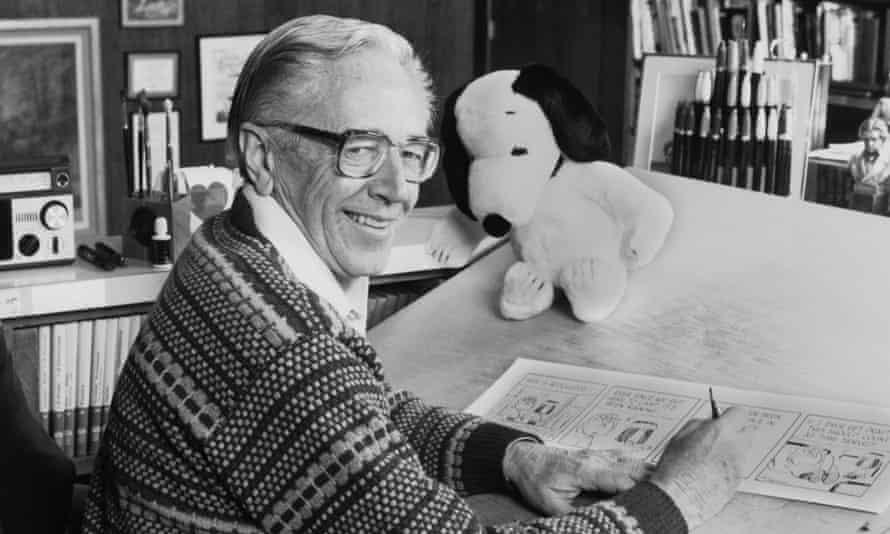 "Charles M Schulz, creator of the ""Peanuts"" comic strip."