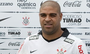ADRIANO IS PRESENTED AS NEW CORINTHIANS' PLAYER