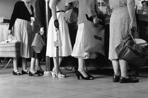 Customers on the shop floor
