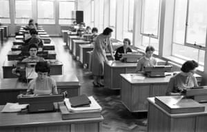 The typing pool at the Baker Street office