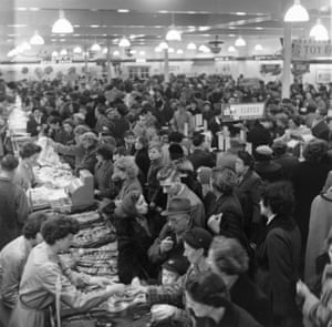 Crowds of shoppers