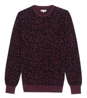 Crew neck jumper in leopard print, Reiss, £79