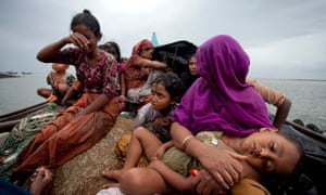 Rohingya Muslims Fleeing Violence