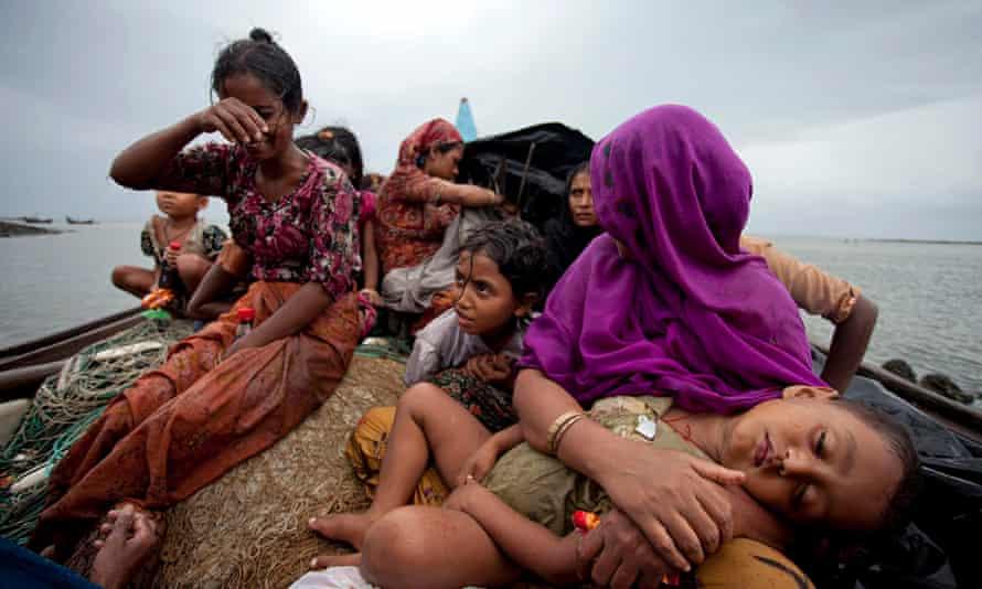 Rohingya Muslims Fleeing Violence
