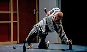 Drunken dancer…  John by DV8 tells the tale of an abused everyman