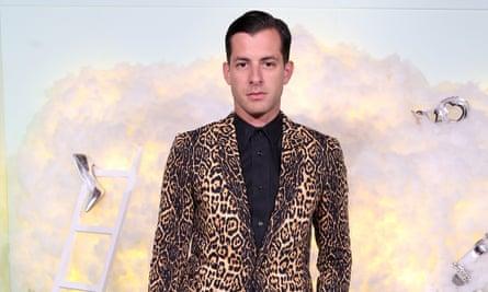 Spot on: Mark Ronson in a leopard-print jacket.