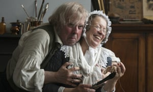 Salty … Turner and his landlady and lover Sophia Booth (Marion Bailey).
