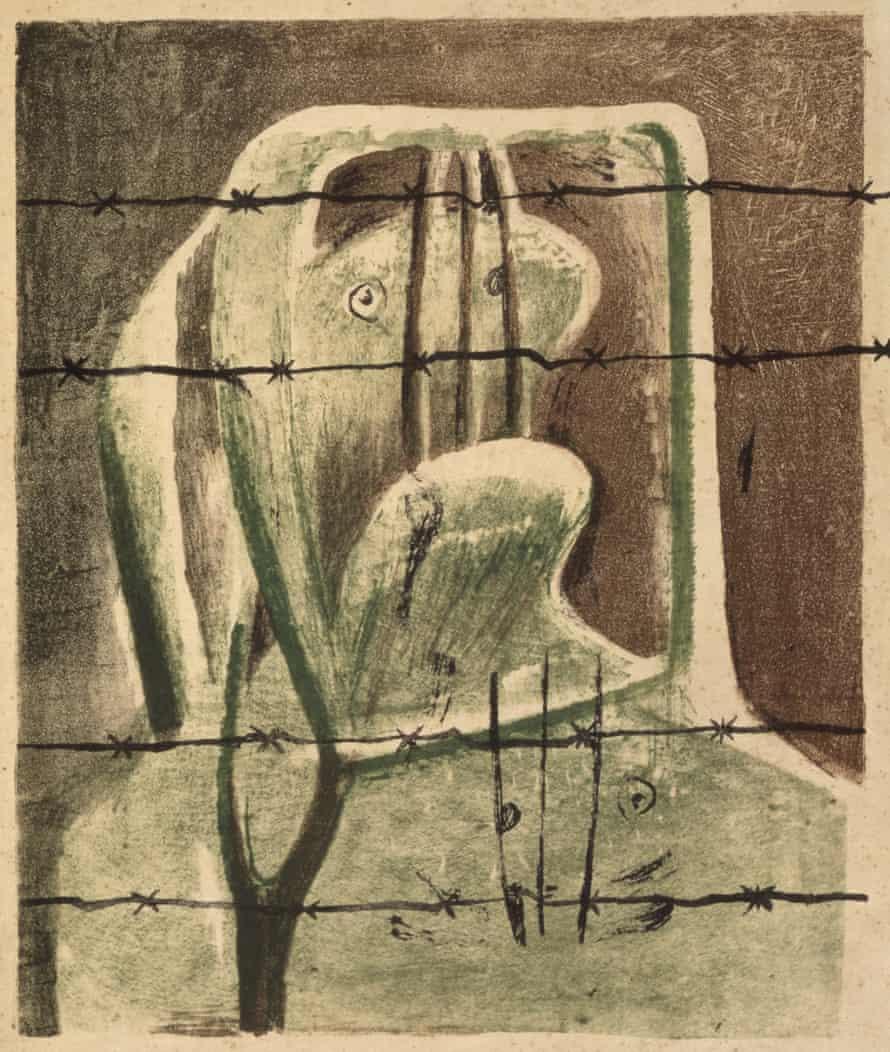 Spanish Prisoner, 1939, by Henry Moore.