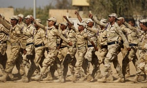 Army recruits train at Baghdad Combat School in Taji, Iraq