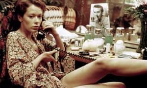 Sylvia Kristel in the 1974 erotic film Emmanuelle.