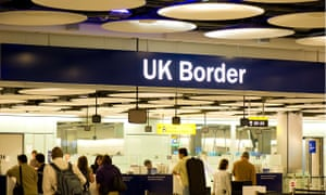 UK Border control at Heathrow