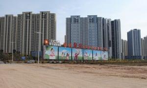 A development on the outskirts of Kangbashi, Ordos