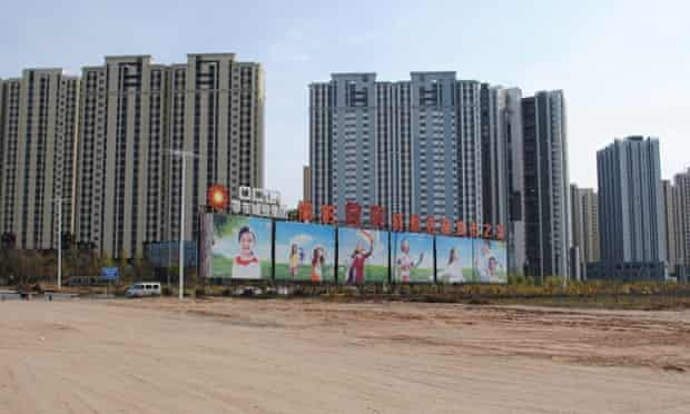 A development on the outskirts of Kangbashi, Ordos