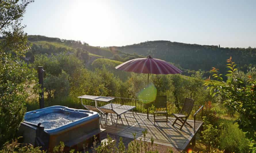 Cut-price Tuscan villa for olive pickers.
