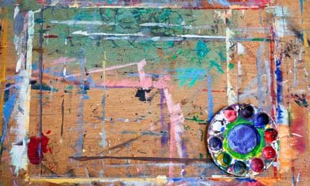 Paint pallette wooden board