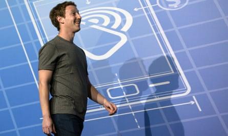 Mark Zuckerberg on stage in Barcelona.