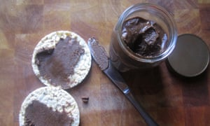 Nuts-a-plenty ... hazlenut and cocoa spread.