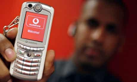 A Vodafone mobile