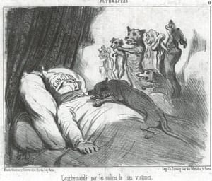 In his nightmares, he is pursued by his victims from the News of the Day series, 1852