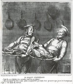 Horseflesh Banquet from Le Charivari, 1865