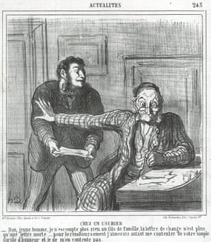 At a Usurers, 'No, young man, I am not giving money to sons of so-called good families. Such a bill of exchange isn't worth a farthing. Actually your word of honour should be sufficient for me, but even that isn't', from News of the Day series,1865