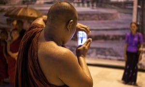 Monk mobile phone Burma