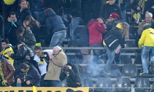 Though the Galatasaray fans won't be getting any presents from Saint Nicholas as they were very badly behaved throwing fireworks into the Dortmund fans