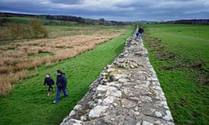 Hadrian's Wall at Birdoswald.