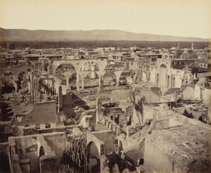 Damascus, Syria, in ruins following the conflict of 1860.