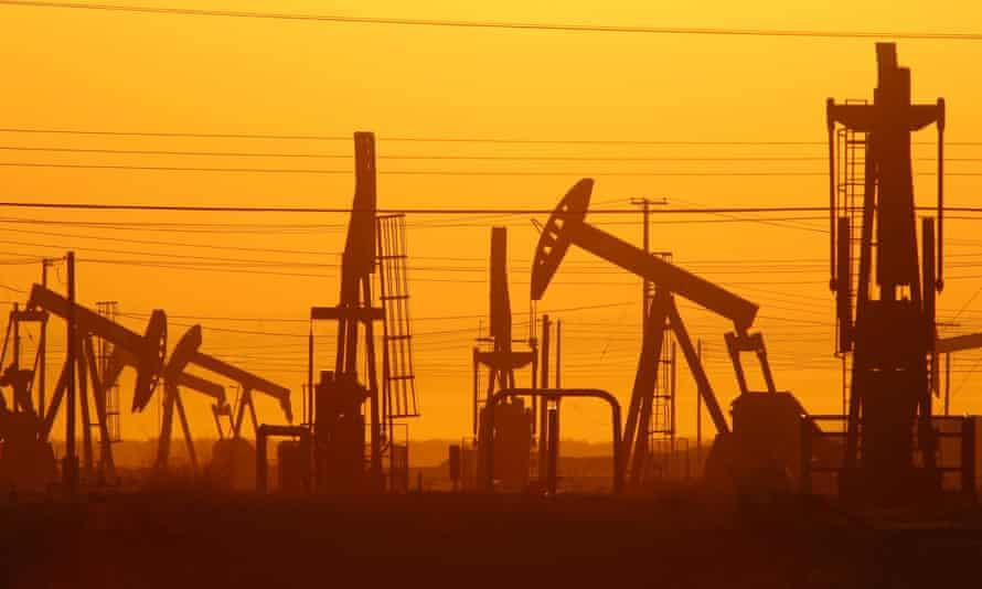 oil gas sunset