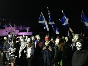 million mask march at edinburgh castle
