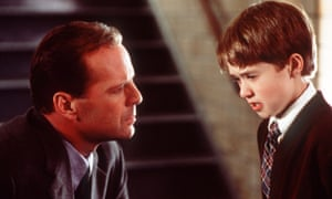 Classic twist … Haley Joel Osment and Bruce Willis in The Sixth Sense.