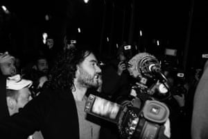 russell brand at the million mask march