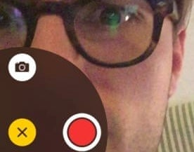 video & # 39; s in ios8 snapchat style