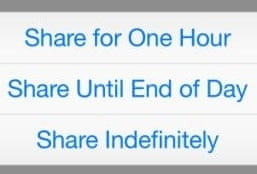 Share location ios8