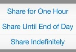 share location ios8