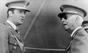 Crown Prince of Spain Juan Carlos with Francisco Franco in 1975.