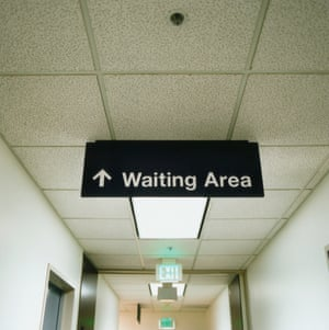 waiting area sign