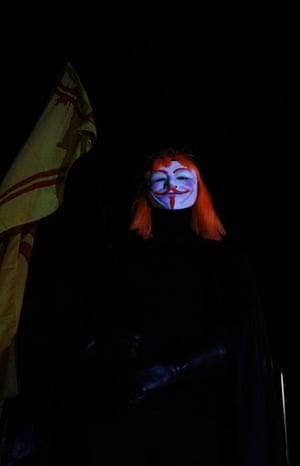 million mask march in edinburgh
