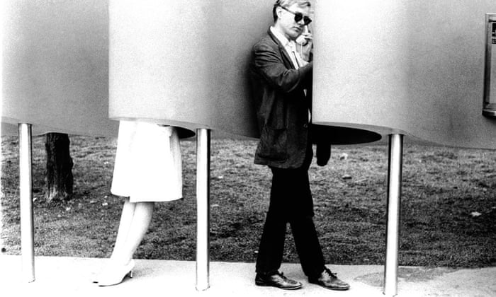 Andy Warhol on a payphone