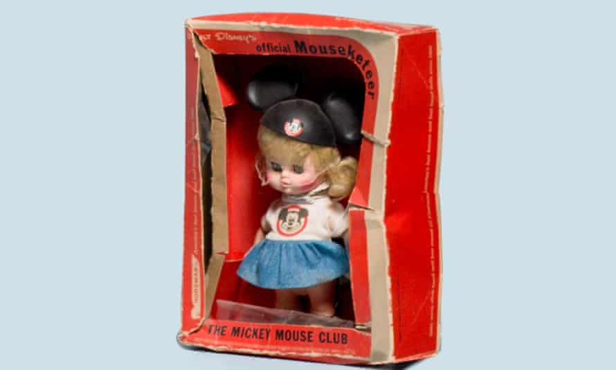 A Mouseketeer doll that Sophie bought from eBay.