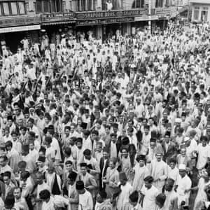 Muslim butchers on strike and their march through Bombay 1938.