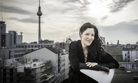 Laura Poitras on the roof of Archimedes Exhibitions in Berlin. Poitras moved to Berlin to escape the