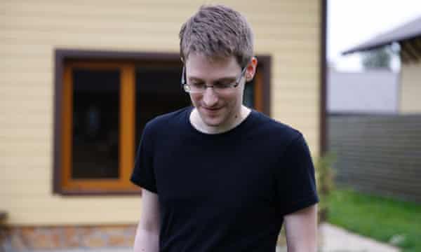 Edward Snowden as he appears in Poitras's film Citzenfour.