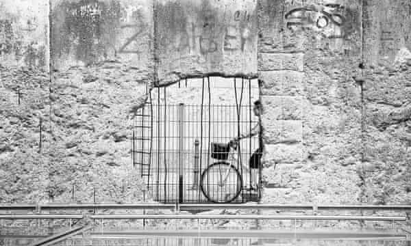 The Berlin wall, which fell in November 1989.