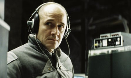 Ulrich Mühe as Stasi captain Gerd Wiesler in the Lives of Others.