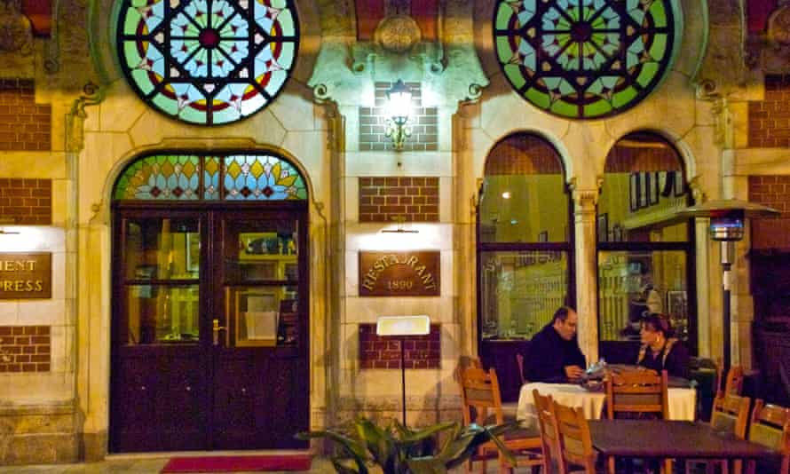 The Orient Express Restaurant on the platform of Istanbul's Sirkeci railway station.