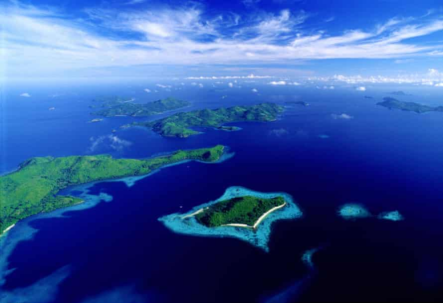 Aerial view of the Palawan archipelago.