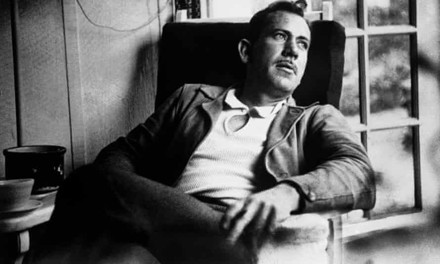 John Steinbeck takes a rest from work on a new novel.